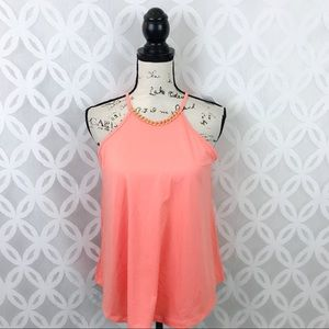 5 for $25| Rue21 Peach Flowy Tank Top NWT